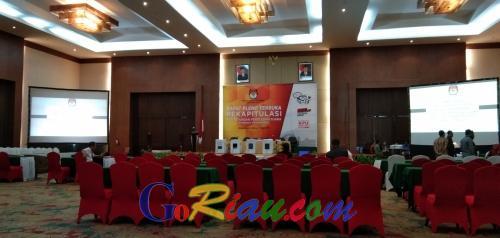 Hari Ini, KPU Riau Gelar Rapat Pleno Rekapitulasi Hasil Penghitungan Perolehan Suara Pemilu Tingkat Provinsi