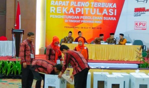 Pleno Rekapitulasi Suara di Riau Dimulai dari Kuansing, Inhu, Dumai dan Rohil