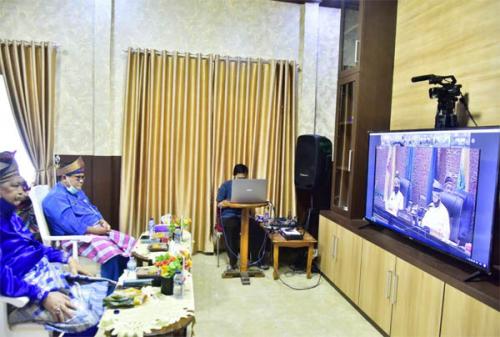 HUT ke-63 Riau, Pemkab Inhil Ikuti Rapat Paripurna Istimewa Secara Virtual