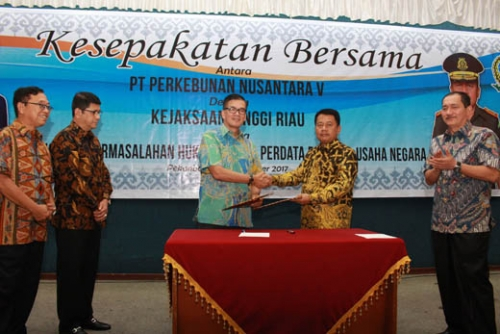 PTPN V Jalin MoU dengan Kejati Riau untuk Bidang Perdata dan Tata Usaha Negara
