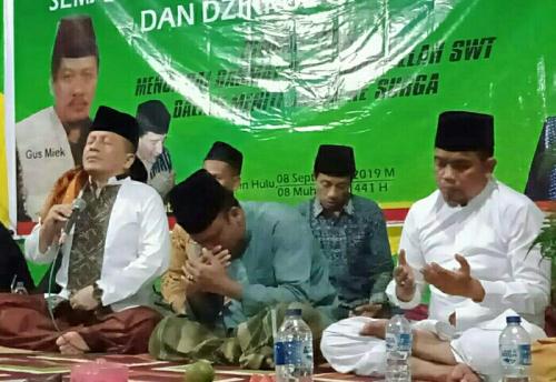 Ketua PDIP Riau Hadiri Pengajian dan Dzikir Akbar di Pondok Pesantren Al Falah Ukui