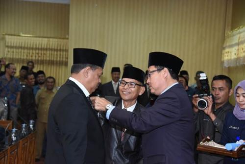 Zuhandi Dilantik sebagai PAW Anggota DPRD Bengkalis