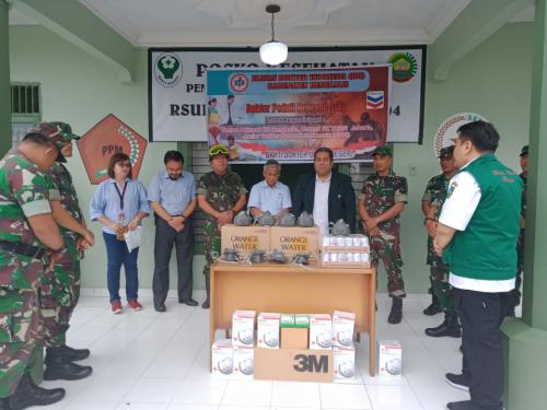 IDI Bengkalis Berikan Bantuan Masker 3M 3200 untuk Koramil 04/Mandau