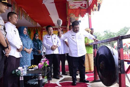 Bupati Amril Canangkan BBGRM XVI di Desa Tanjung Belit