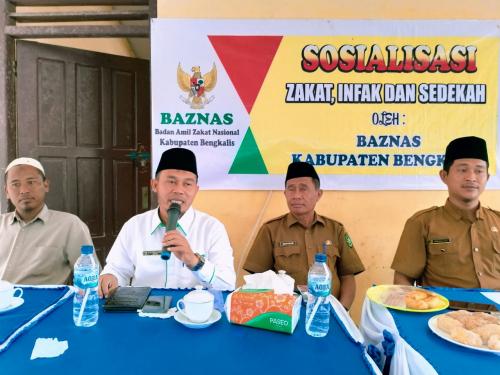 Baznas Bengkalis Sosialisasi Zakat di Rupat