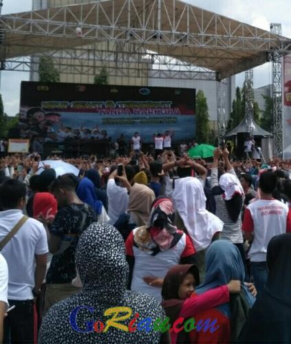 Hadirkan Wali Band, Granat Meranti Ikut Sukseskan Deklarasi Milenial Anti Narkoba di Pekanbaru
