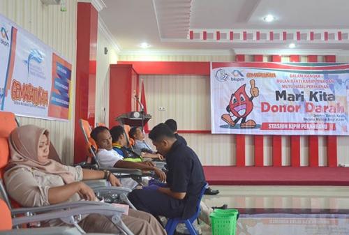Bulan Bakti Karantina dan Mutu Hasil Perikanan, Stasiun KPIM Pekanbaru Gelar Gemasatukata, Hari Ini Donor Darah