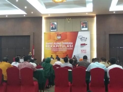 Pleno Rekapitulasi KPU Riau, Prabowo - Sandi Menang di Kampar, Inhu dan Dumai