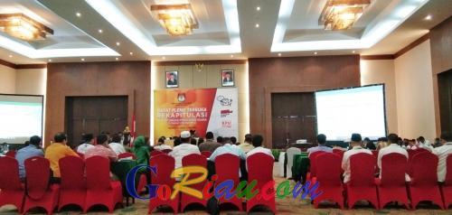 Hari Kedua, KPU Riau Plenokan Rekapitulasi Suara di Lima Daerah