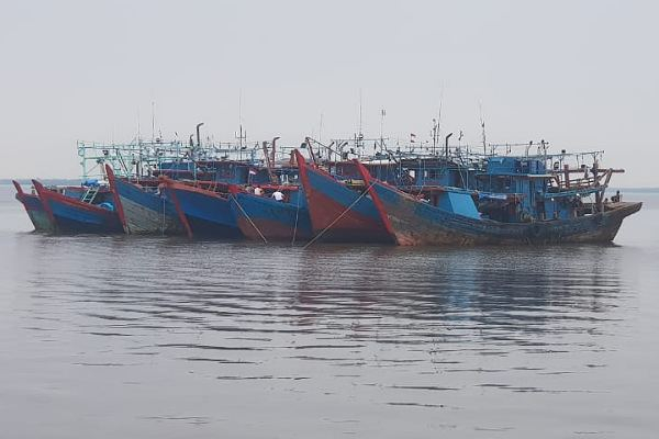 KKP Tangkap Tujuh Kapal Pukat Harimau di Perairan Rohil, 84 ABK dan 19 Ton Ikan Diamankan