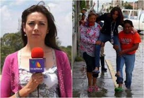 Minta Digendong Saat Meliput Banjir, Wartawati Cantik Ini Dipecat