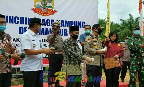 Launching Program Jaga Kampung, Kapolres Pelalawan Gaungkan Ketahanan Pangan