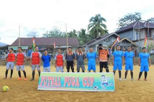 PWI Kampar Tumbangkan Favorit Juara Arcenip FC di Open Tournament Futsal Pulau Gadang Cup