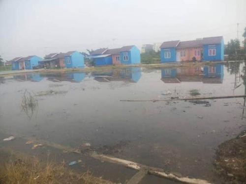 Jika Pasang, Penghuni Rumah Layak Huni di Rohil Cemas Air Laut Masuk Rumah