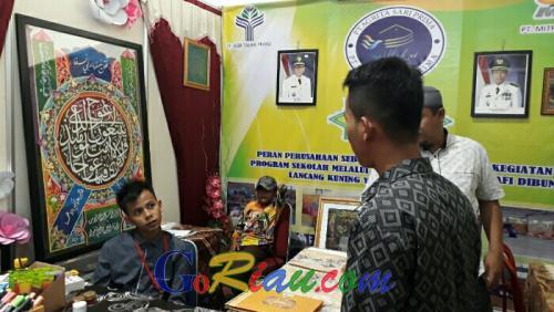 Berpartisipasi pada Pelalawan Expo 2019, Agritasari Prima dan Mitrasari Prima Pamerkan Kaligrafi Siswa SD