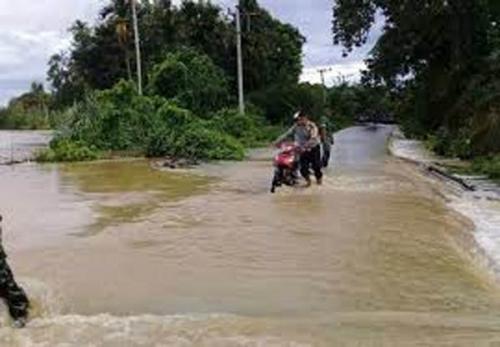 Dilanda Banjir, Sejumlah Sekolah di Inhu Diliburkan