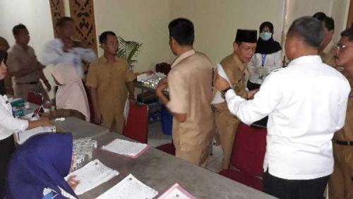 1500 PNS Pelalawan Tes Urine, Sekda: Kepala Dinas yang Dicurigai Dites 3 Kali Hari Ini