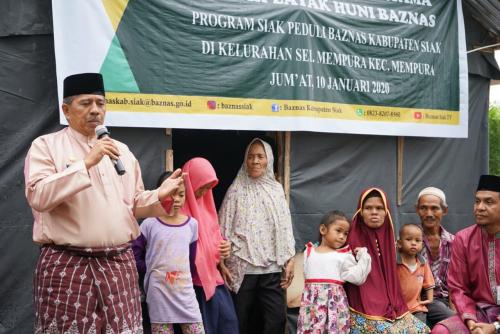 Inovasi Baru Baznas Siak, Bantuan 14 RLH untuk Warga Miskin