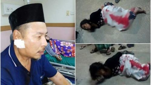 Wanita Kurang Waras Tusuk Leher Guru Mengaji Saat Shalat Subuh di Masjid