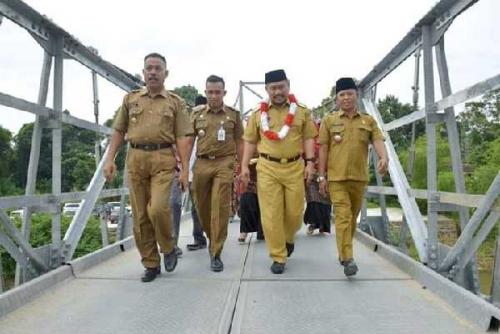 Penantian 70 Tahun, Akhirnya Desa Pulau Rambai Miliki Jembatan Gantung