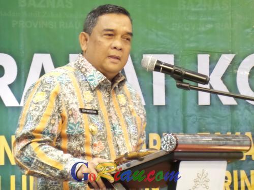 Buka Rakor UPZ Lingkup Pemprov Riau, Edy Nasution: Zakat Kewajiban, Bisa Membantu Fakir Miskin
