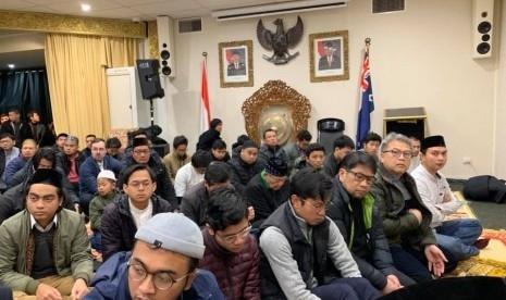Umat Islam di Melbourne Shalat Id dalam Cuaca 4 Derajat Celcius
