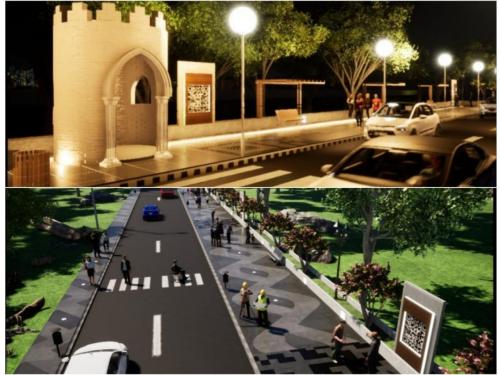 Keren, Jalan Muzafarsyah Kampung Dalam Siak akan Disulap Seperti Kawasan Orchard Singapura