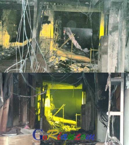 Mengerikan, Foto Ini Gambarkan Dampak Keganasan Api di Lantai Dasar Ramayana Pekanbaru