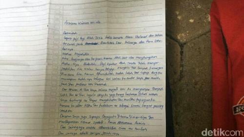 Wanita Terduga Teroris Kirim Surat Pamit ke Suami Sebelum Tertangkap, Ini Isi Lengkapnya