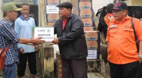 Lembaga Penanggulangan Bencana PW Muhammadiyah Riau Salurkan Bantuan Bencana Banjir