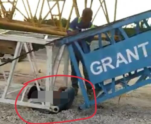Jenazah Pekerja yang Tewas Tertimpa Crane di Proyek Tol Pekanbaru-Dumai Dibawa ke Samosir