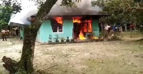 Rumah Terbakar di Kampar, Satu Orang yang Dipasung di Dalam Hangus