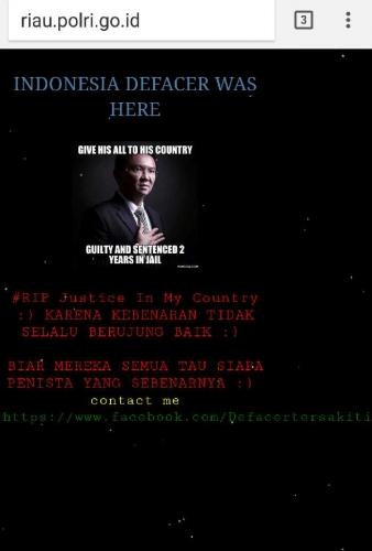situs-resmi-milik-polda-riau-lumpuh-dikerjai-hacker-foto-ahok-berjas-hitam-terpampang