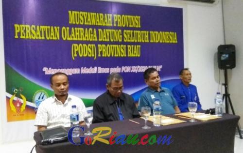 Aklamasi, Bupati Kuansing Mursini Pimpin Pengprov PODSI Riau 4 Tahun Kedepan