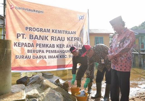 Pemkab Kepulauan Anambas Wujudkan CSR Bank Riau Kepri untuk Pendirian Musholla