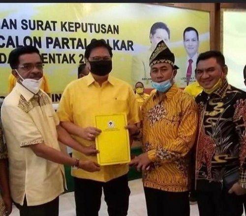 Kantongi SK DPP Golkar, Said Arif Fadilah - Sujarwo Yakin Menang Pilkada Siak