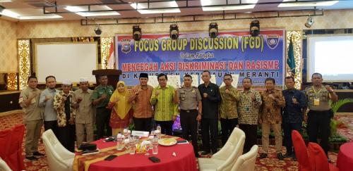 Polres Kepulauan Meranti Taja FGD Cegah Aksi Diskriminasi dan Rasisme