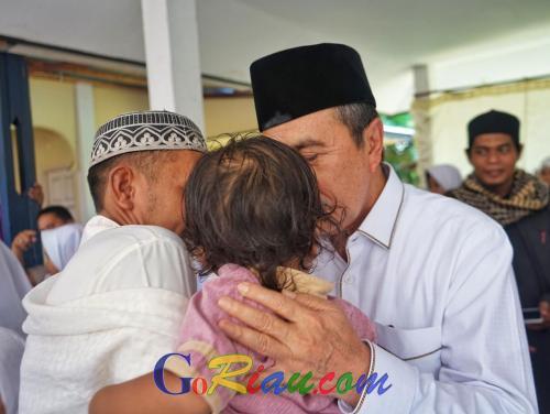 Hj Hertuti Bangun Rumah Tahfiz Ar Rahman Bukitbatu dari Dana Pensiun, Gubri Syamsuar: Syiarkan Alquran di Riau