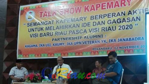 Kapemary Gelar Talkshow Peran Melahirkan Gagasan Baru Visi Riau Setelah 2020
