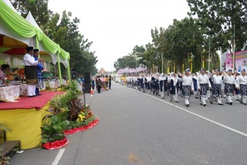 Pemkab Siak Usung Tema Zakat dan Sedekah Pada Pawai Taaruf MTQ Provinsi Riau XXXVII