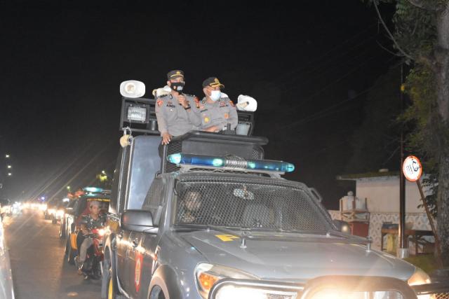 Malam Lebaran, Kapolres Kampar Pimpin Patroli Gabungan Berskala Besar di Kota Bangkinang