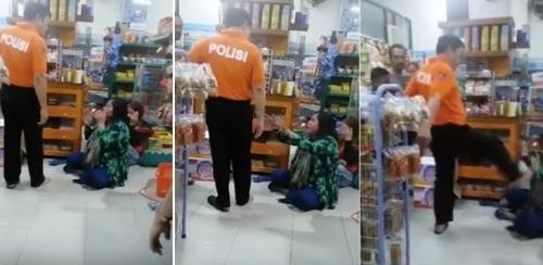 Pria yang Tendang Kepala Ibu-ibu di Minimarket Ternyata Polisi Berpangkat AKBP