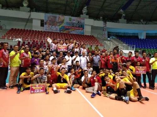 Kalahkan Pekanbaru, Rohul Juara 1 Kejurda Bola Voli Putra Piala Gubernur 2019