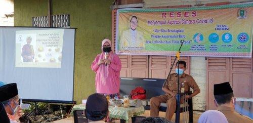 Reses di Inhil, Septina Catat Keluhan Masyarakat Soal Infrastruktur dan Pengangguran Akibat Covid-19