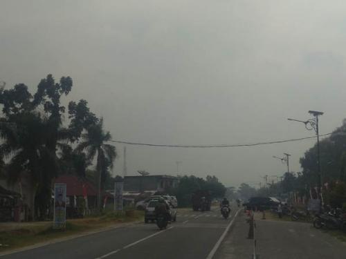 Kabut Asap Mulai Selimuti Kota Bangkinang, Mata Warga Mulai Perih