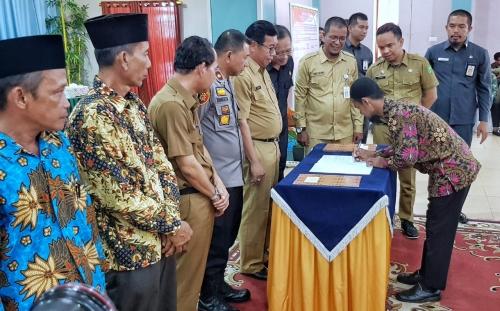 Sekda Kepulauan Meranti Pimpin Deklarasi Damai Pilkades Serentak 2019
