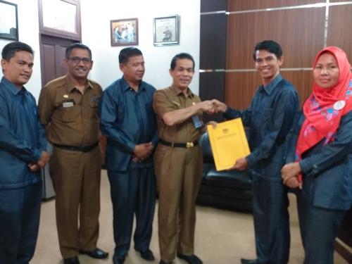 KPU Kuansing Sudah Sampaikan Hasil Pileg ke Gubernur Riau