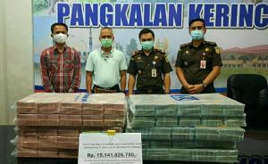 Kejari Pelalawan Eksekusi Uang Perbaikan Karhutla PT Adei Plantation Rp15 Miliar Lebih
