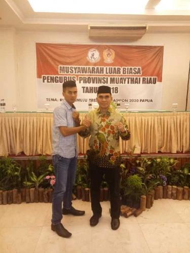 Terpilih Aklamasi Sebagai Ketua Pengprov Muathay Riau, Sinyo Janji Wujudkan Organisasi Modern