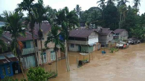 Air Sungai Meluap, 4 Desa di Kampar Kiri Terendam